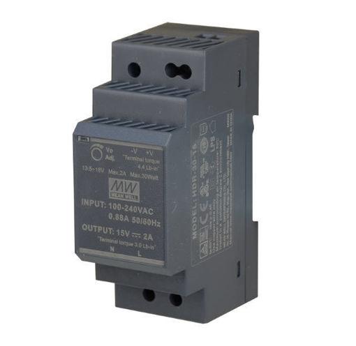 Slika proizvoda: Napajanje Mean Well HDR-30-24 30W 24V