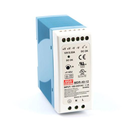 Slika proizvoda: Napajanje Mean Well MDR-40-24 40W 24V