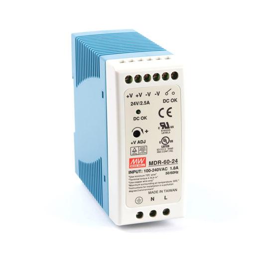 Slika proizvoda: Napajanje Mean Well MDR-60-24 60W 24V